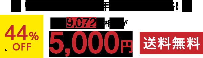 リニューアル1周年記念特別価格!通常9,072円相当が44%OFF 5,000円(税込)送料無料